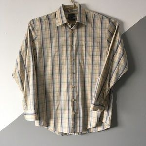 Hickey Freeman M Button Down Sports Shirt